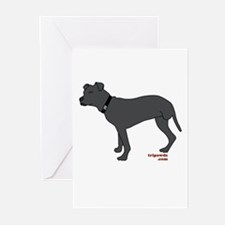 Rear Leg Tripawd Pit Bull Greeting Cards (Pk of 10
