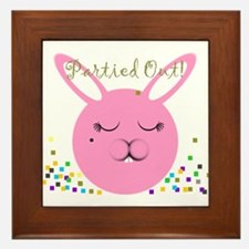 Partied Out Bunny Framed Tile