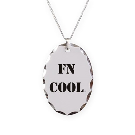 FN Cool Necklace Oval Charm