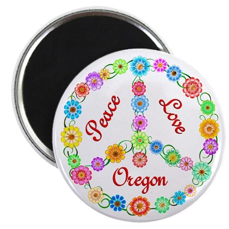 "Peace Love Oregon 2.25"" Magnet (10 pack)"