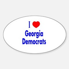 I Love Georgia Democrats Oval Decal