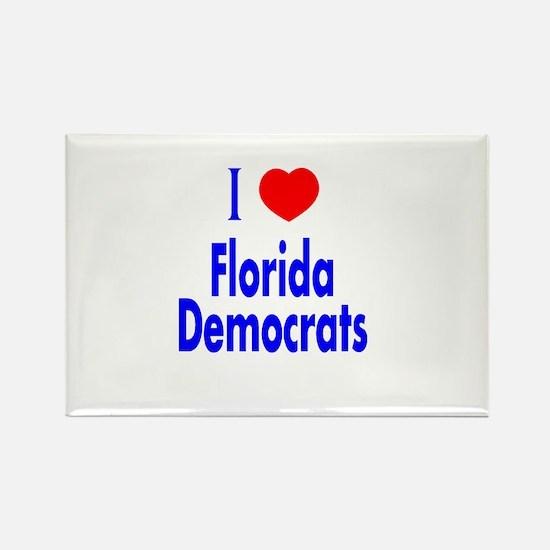 I Love Florida Democrats Rectangle Magnet
