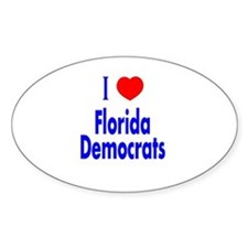 I Love Florida Democrats Oval Decal