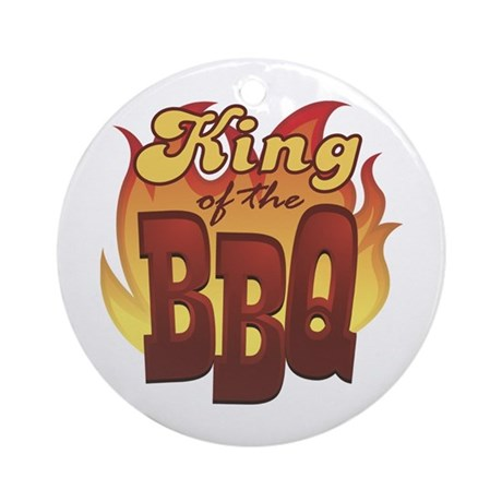King Of The Barbecue Ornament (Round)