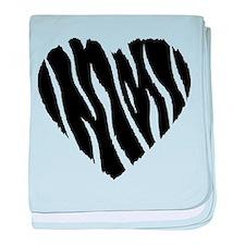 Zebra Fur Heart baby blanket