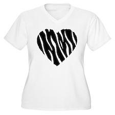Zebra Fur Heart T-Shirt