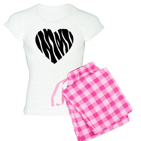 Zebra Fur Heart Women's Light Pajamas