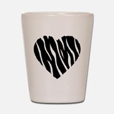 Zebra Fur Heart Shot Glass