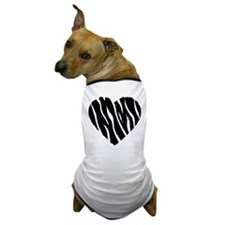 Zebra Fur Heart Dog T-Shirt