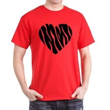 Zebra Fur Heart T-Shirt