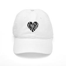Zebra Fur Heart Cap