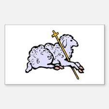 """Lord is My Shepherd"" Rectangle Decal"