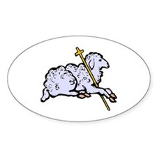 """""""Lord is My Shepherd"""" Oval Decal"""