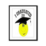 I Graduated Framed Panel Print