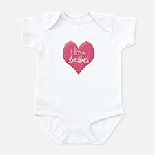 Funny I love boobies Infant Bodysuit