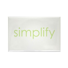 simplify Rectangle Magnet (10 pack)