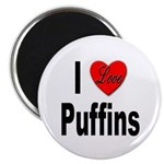 I Love Puffins Magnet