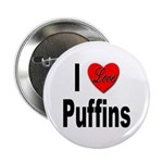 I Love Puffins Button