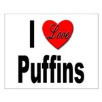 I Love Puffins Small Poster