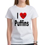 I Love Puffins (Front) Women's T-Shirt