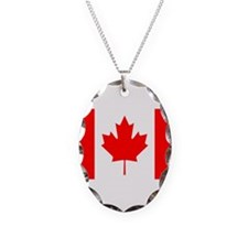Canada Flag Necklace Oval Charm