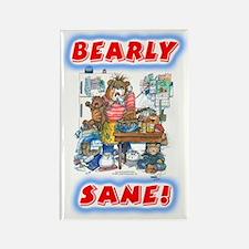 Bearly Sane Rectangle Magnet