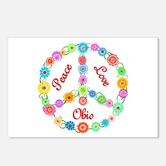 Peace Love Ohio Postcards (Package of 8)