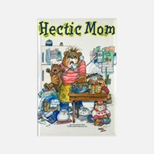 Hectic Mom Rectangle Magnet