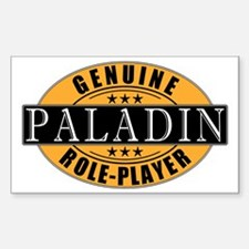 Genuine Paladin Gamer Rectangle Decal