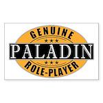 Genuine Paladin Gamer Rectangle Sticker