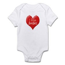 Funny I love boobies Infant Bodysuit
