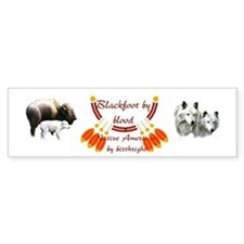 """Blackfoot"" Bumper Bumper Sticker"