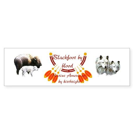 """Blackfoot"" Bumper Sticker"