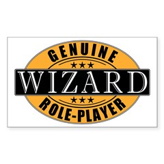 Genuine Wizard Gamer Rectangle Decal