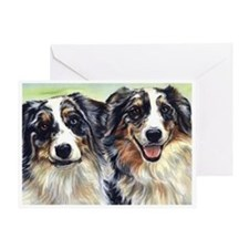 Unique Australian shepherds Greeting Card