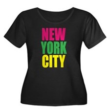 NEW YORK CITY Women's Plus Size Scoop Neck T-Shirt