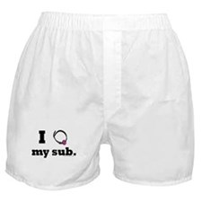 I Love (gag collar) My Sub Boxer Shorts