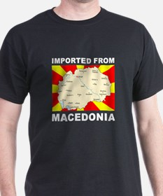 T-Shirt Imported from Macedonia Map
