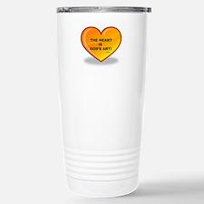 The Heart is God's Art Stainless Steel Travel Mug