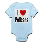 I Love Pelicans Infant Creeper