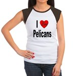 I Love Pelicans (Front) Women's Cap Sleeve T-Shirt