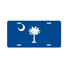 South Carolina State Flag Aluminum License Plate
