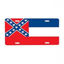 Mississippi State Flag Aluminum License Plate