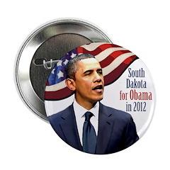 South Dakota for Obama campaign button
