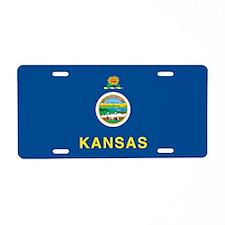 Kansas State Flag Aluminum License Plate