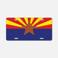 Arizona State Flag Aluminum License Plate