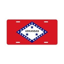 Arkansas State Flag Aluminum License Plate