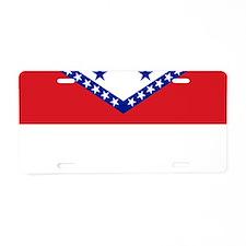 Arkansas State Flag Aluminum License Plate