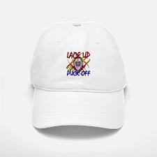 Lace up or Puck Off Hockey Baseball Baseball Cap
