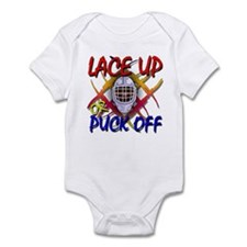 Lace up or Puck Off Hockey Infant Bodysuit